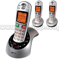 Geemarc AmpliDect 285 Amplified Cordless Phone with TAM - Triple Set