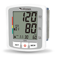 Lifemax 1243 Talking Wrist Blood Pressure Monitor