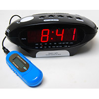 Texson Digital AM/FM Radio Alarm Clock With MP3 Connection